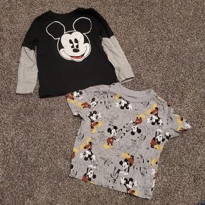 Lot of 2 Mickey Mouse Disney shirts. Size 3T